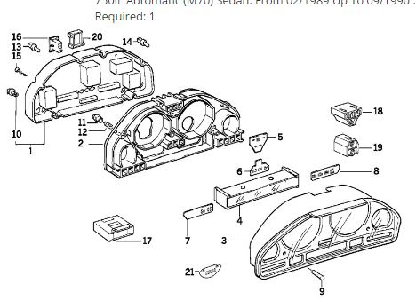 BMW OEM 13880849 USED INSTRUMENT CLUSTER 525I 89 E34 525i
