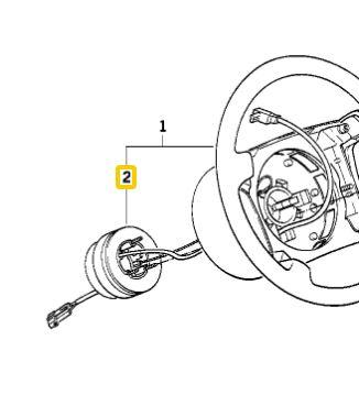 BMW OEM 32341160901 USED CLOCK SPRING 325i 99 E36 3 Series