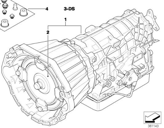BMW OEM ZF 5HP24 USED Auto Transmission 24001423193 e39