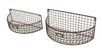 2 Pc. Metal Mesh Wire Arch Wall Basket Planter Set | eBay