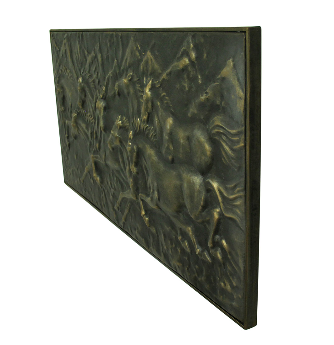 Wild Running Horses Decorative Metal Wall Art Hanging