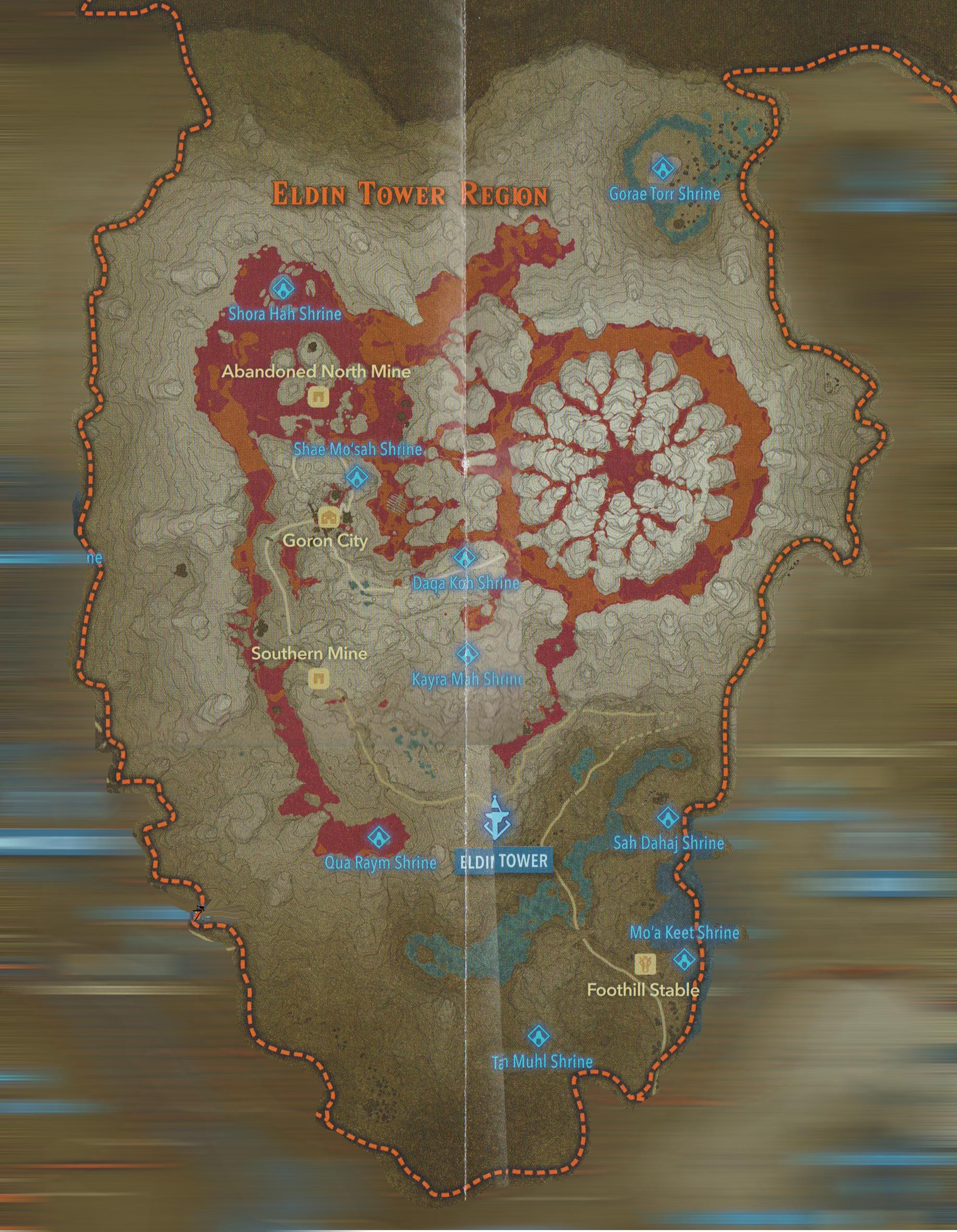 Full Botw Map : Eldin, Shrines, ZeldaSpeedRuns