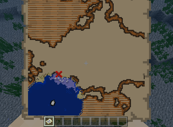 地図 の 見方 宝 マイクラ