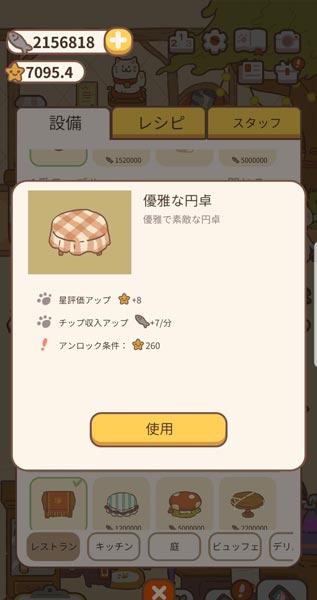 「ねこレストラン」設備詳細