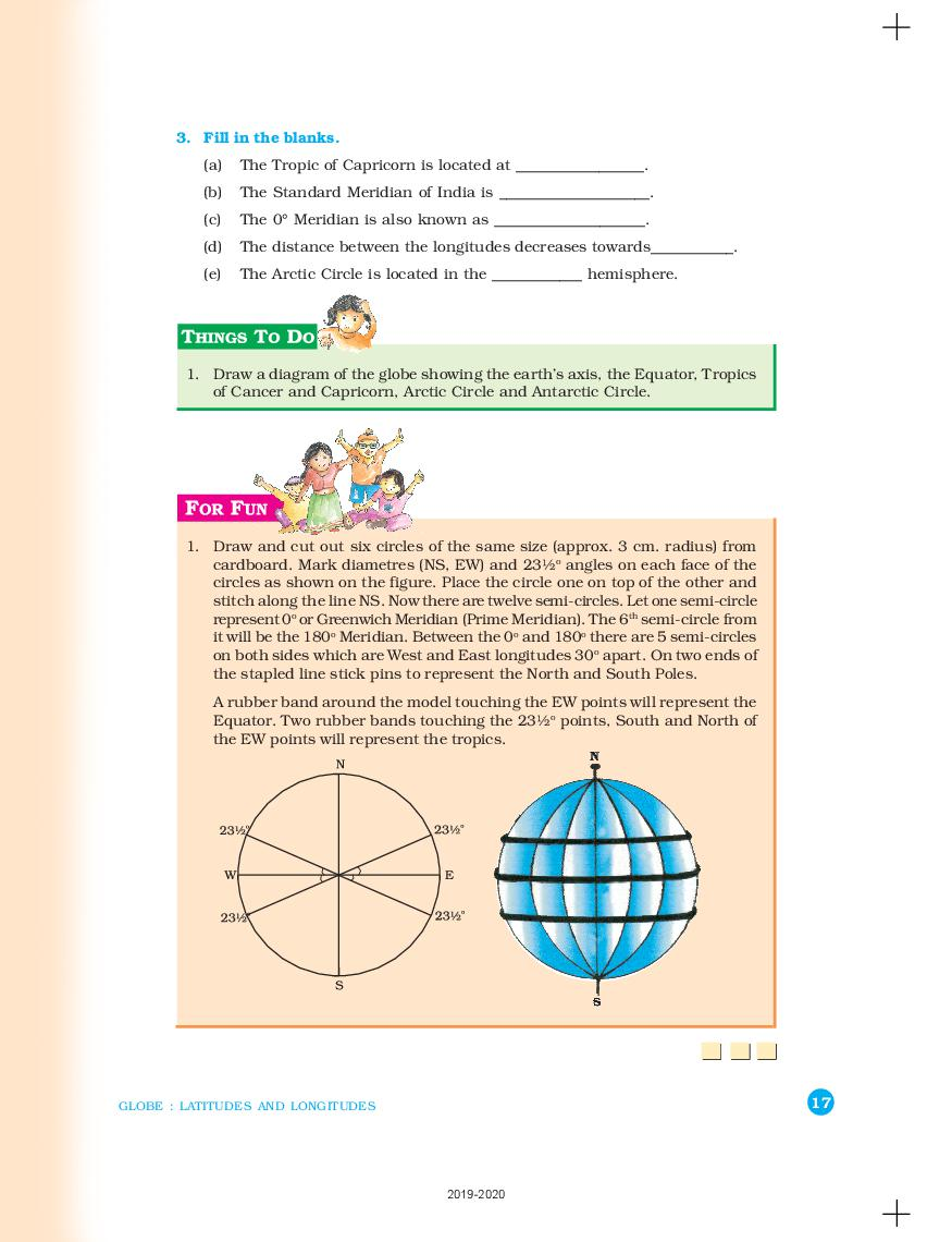 hight resolution of NCERT Book Class 6 Geography Chapter 2 Globe Latitudes and Longitudes    AglaSem Schools