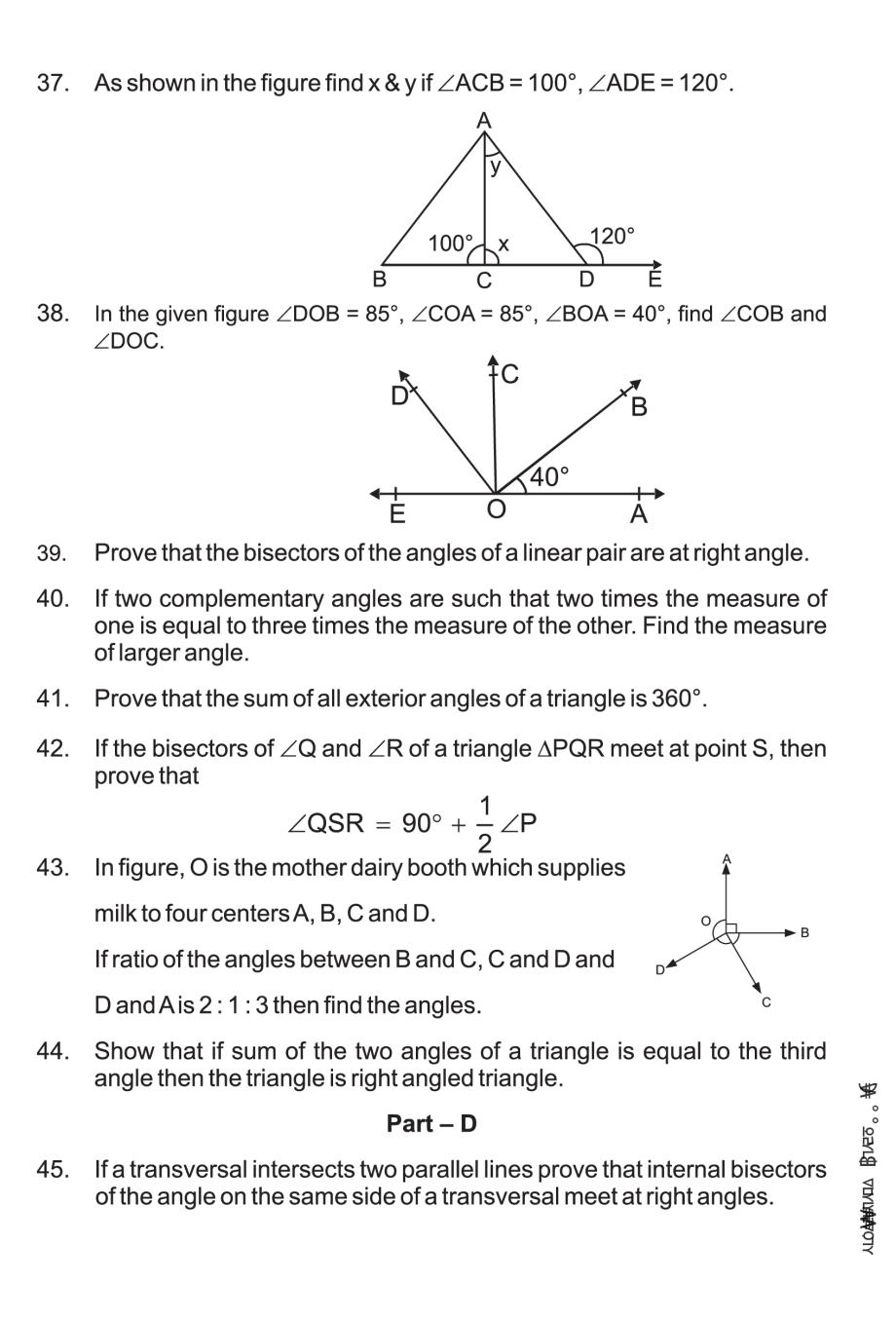 hight resolution of Class 9 Math Lines and Angles Notes