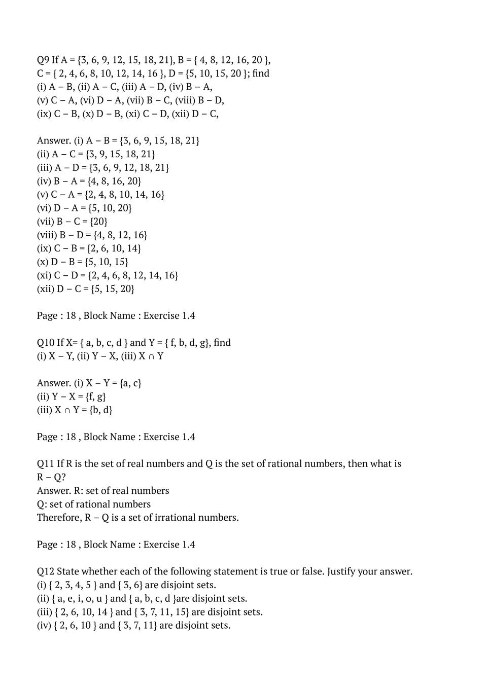 hight resolution of NCERT Solutions for Class 11 Maths Chapter 1 Set   AglaSem Schools