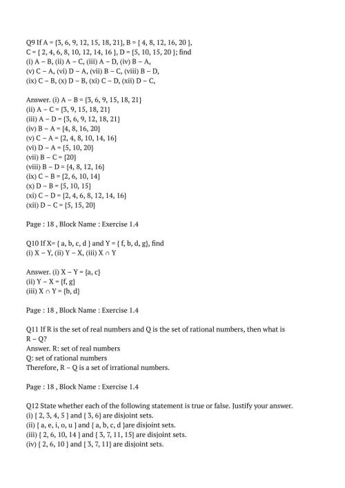 small resolution of NCERT Solutions for Class 11 Maths Chapter 1 Set   AglaSem Schools