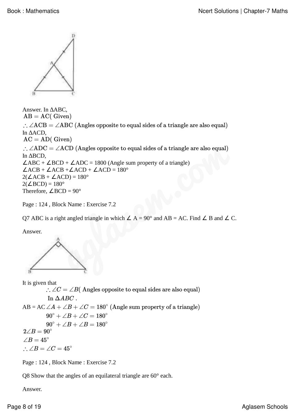 medium resolution of NCERT Solutions for Class 9 Maths Chapter 7 Triangles   AglaSem Schools
