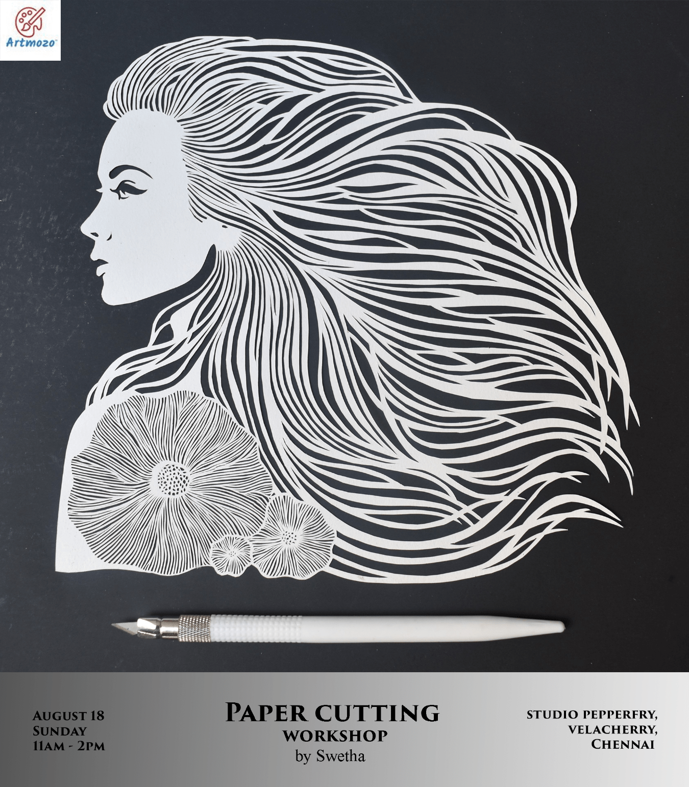 Paper Cutting Workshop Tickets By Art Mozo Sunday August