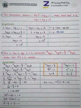 Pembahasan rumus/aturan/sifat logaritma beserta pembuktian melalui definisi logaritma dan eksponen. Ambisnotes Pembahasan Soal Logaritma Kelas 10 Ambisnotes