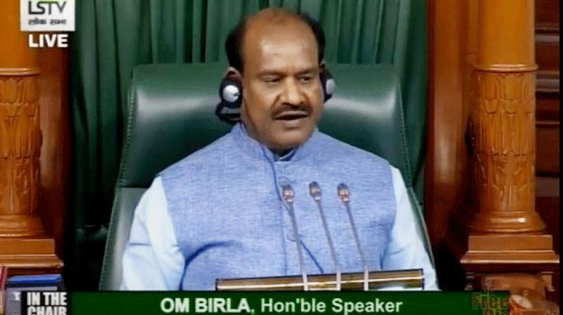 """Speaker Om Birla tried to intervene, saying statements by MPs outside Parliament cannot be raised inside the House, and members should not set a """"wrong precedent"""".  (Photo: ANI)"""
