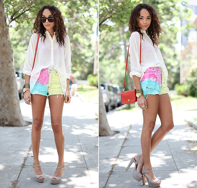 ashley-madekwe-tie-dye-shorts