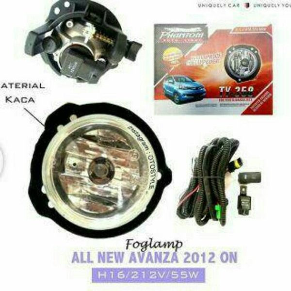 Ready Stock foglamp lampu kabut all new avanza Berkualitas
