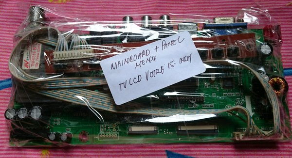 Mainboard TV LCD VOTRE 15 atau 17 Inch dan Panel Menu Depan