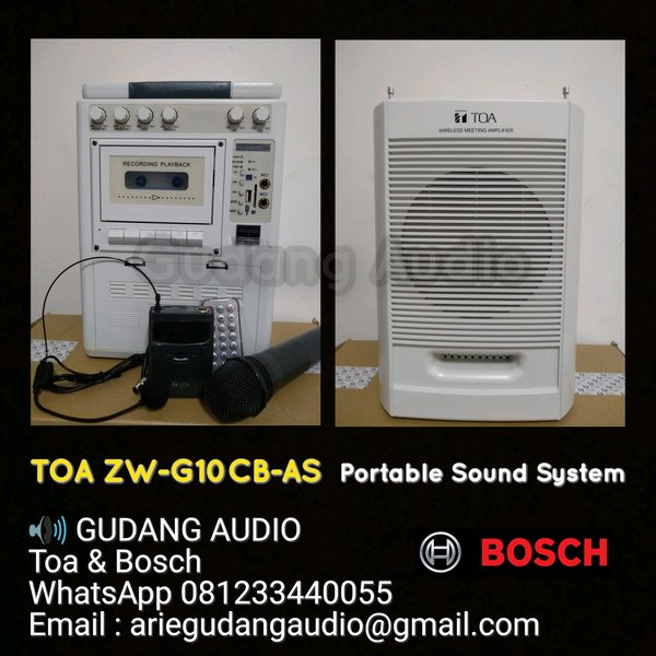Portable Wireless Amplifier Toa ZW-G10CB-AS