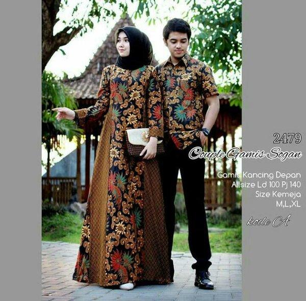 Sarimbit Gamis batik Baju Batik couple