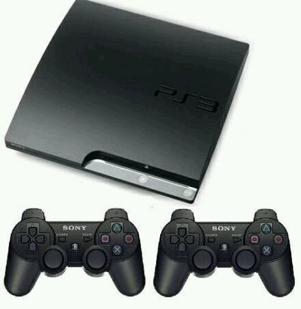 Ps3 Slim Sony + Hdd 320gb + 2 Stick Warlles