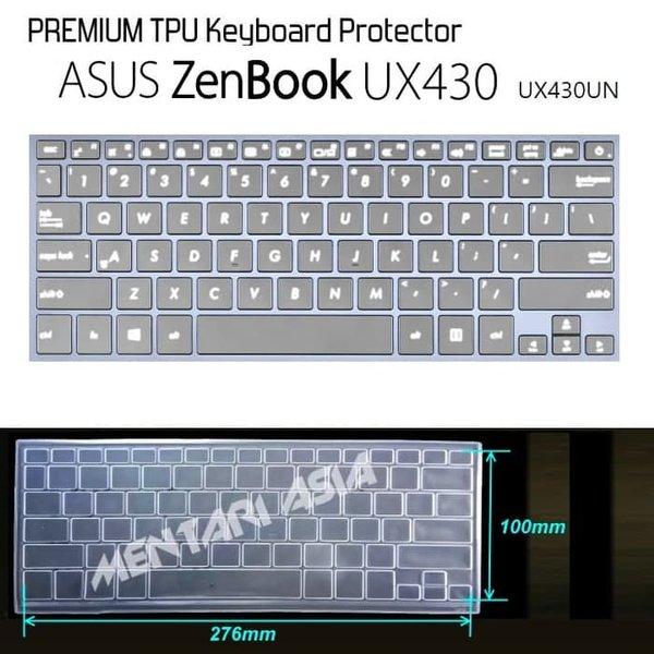 Super Murah - Keyboard Protector ASUS ZenBook UX430UN - PREMIUM TPU Clear