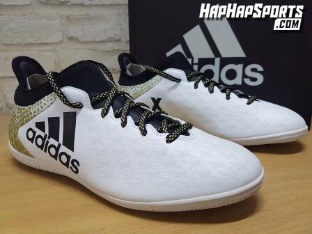 Sepatu Futsal ADIDAS X16.3 White Gold...ukuran 43 , 44
