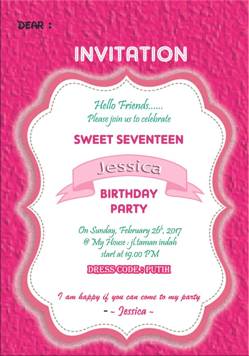 Undangan invitation birthday party newsinvitation jual kartu undangan ulang tahun invitation card sweet seventeen levina collections welcome to birthday party stopboris Gallery
