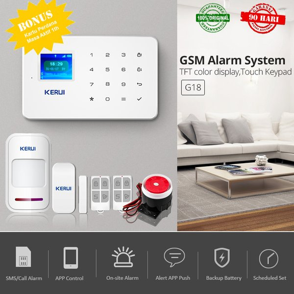 Alarm TC702 Alarm Rumah Pintar GSM Android IOS Wireless Inteligent Burglar