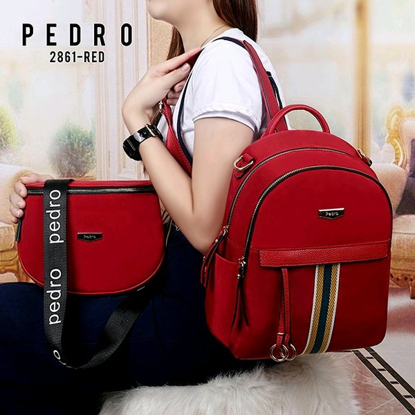 Tas Ransel Wanita PEDRO 2in1 Set Messenger Bag 2861 BackPack Pedro Semipremium Quality Best Sellers