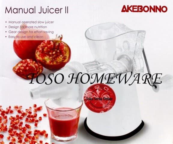 Akebonno Manual Slow Juicer II KS-0199Z Easy Juicer