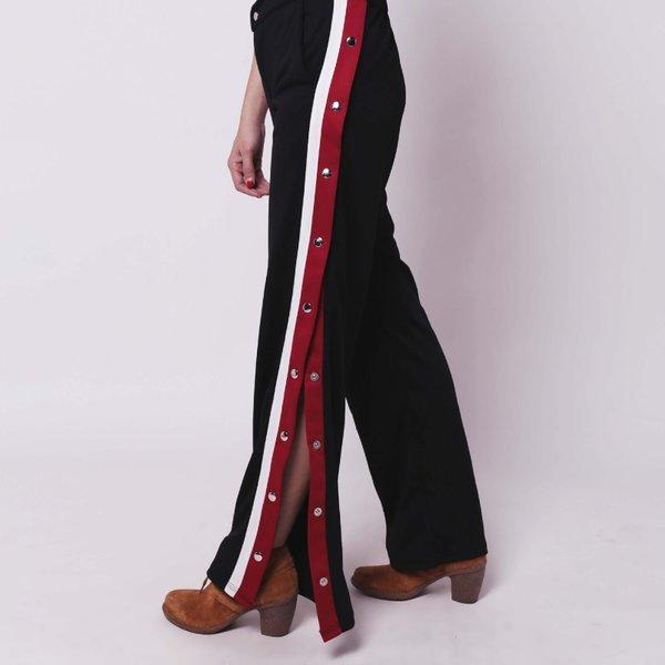 Celana panjang gxxci hitam list 9 kancing Kulot merah putih Baju kekinian murah cewek wanita berkualitas