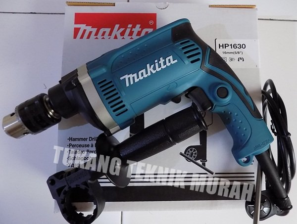 New MAKITA HP 1630 VARIABLE SPEED MESIN BOR TANGAN BETON 16mm