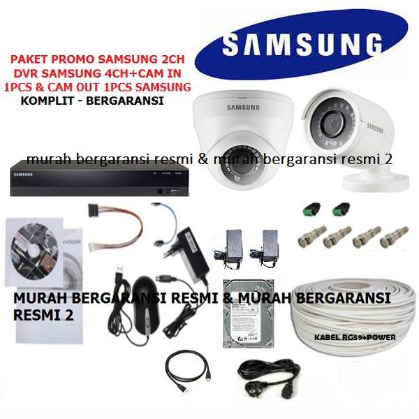 PAKET CCTV 2CHANNEL SAMSUNG AHD FULL HD 2MP 1080P KOMPLIT LENGKAP SIAP PASANG MIX