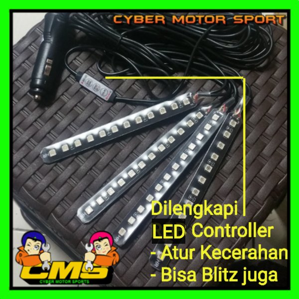 Lampu kolong interior, led kolong dashboard. lampu kolong jok mobil. lampu bawah dashboard. led kolong colokan lighter