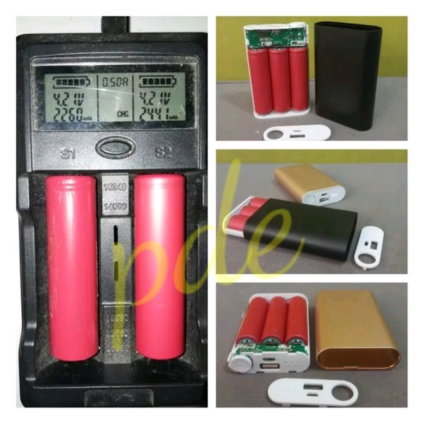 power bank rakitan 3pcs batre laptop bekas orginal