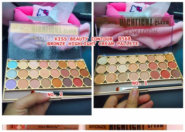 PROMO BESAR Kissbeauty Contour 9568 Bronze Highlight Cream Pallete Besar concealer