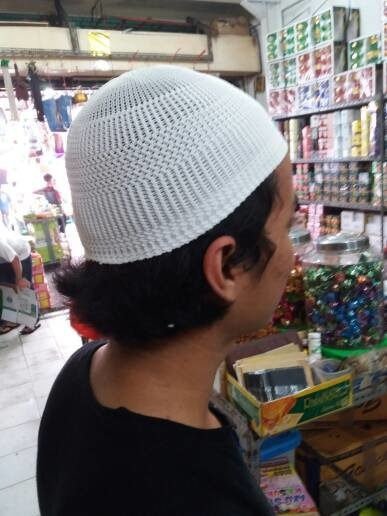 promo Peci Rajut Putih Polos kopyah murah grosir Oleh Oleh Haji paket paling murah