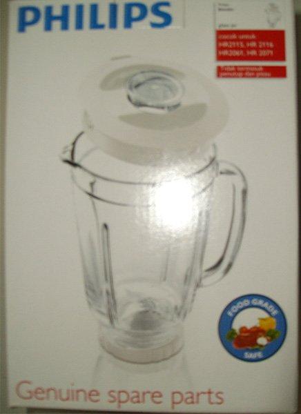 Gelas Kaca Blender Philips HR 2115 - HR 2061 - Asli dalam Dus