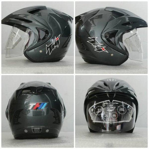 Dijual Helm SNI Murah Helm Half Face THI Gun Metal Limited