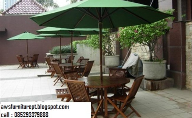 Jual Meja Payung Cafe Kursi Outdoor Furniture Jepara