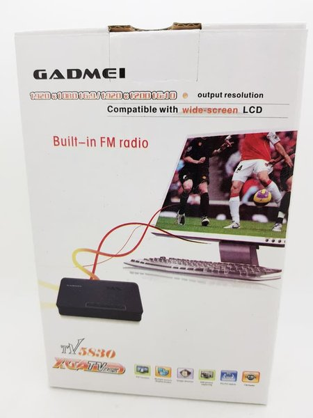 Terlaris - TV Tuner Gadmei 5821 New Converter AV to VGA untuk Monitor CRT LCD LED