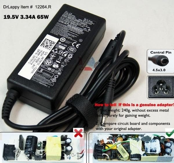 Ready Stock - Charger Casan Adaptor Dell Inspiron 14 3458 14-5458 14-5459 14-5558