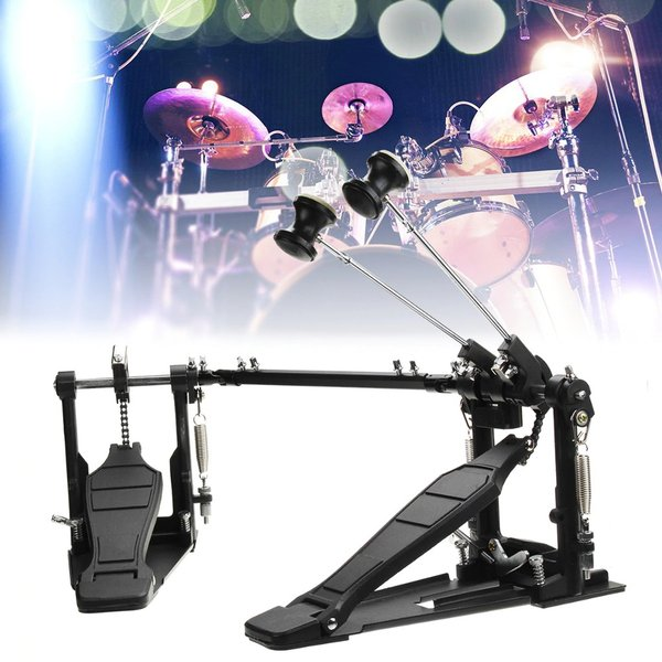 Professional Drum Pedal Double Bass Dual Foot Kick Pedal Percussion Set Single Chain Drive