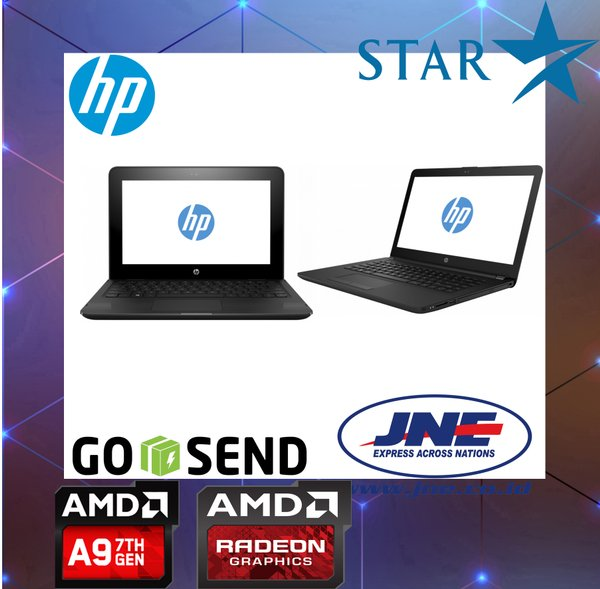 LAPTOP GAMING MURAH HP 14 - BW015AU AMD A9 9420 RAM 4GB HDD 500GB RESMI