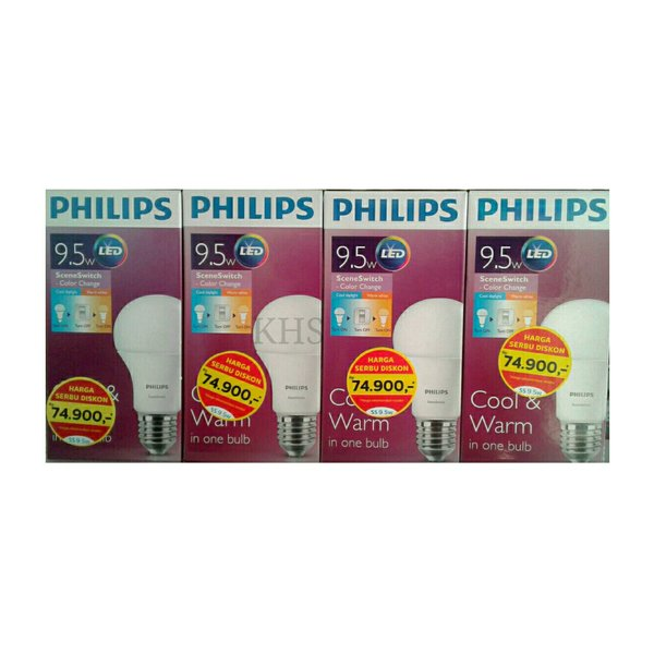 Lampu LED Philips 9.5 watt Bohlam Philip 9watt Bulb 9w 9 w 9.5 w Scene Switch Philip 9.5watt 9.5w 9 watt Promo