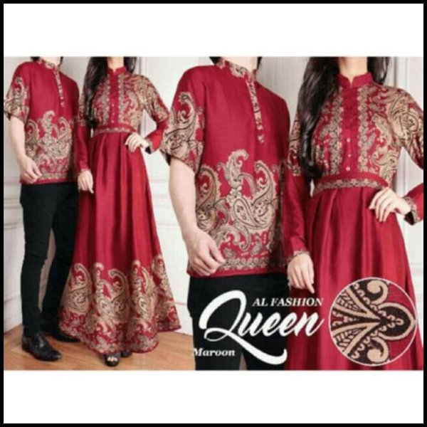 Best Seller Baju Gamis Couple Queen Fashion Muslim Terbaru