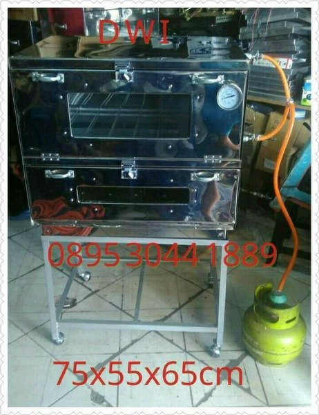 oven gas stainless 75x55x65 free ongkir dki jakarta