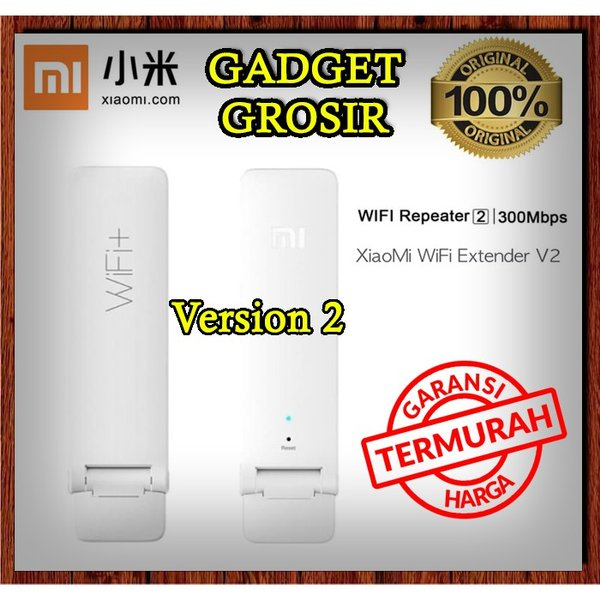 XIAOMI Mi WiFi Amplifier V2 Repeater Extender USB Wireless 300Mbps ORIGINAL Tanpa Install