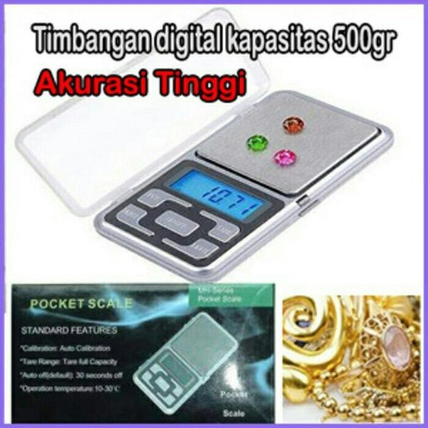 Timbangan Digital / Pocket Scale utk Emas, Batu Akik, Diamond (500gr)