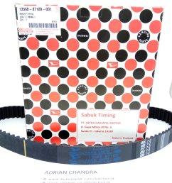 timing belt ori import 001 daihatsu feroza taruna [ 1000 x 1333 Pixel ]