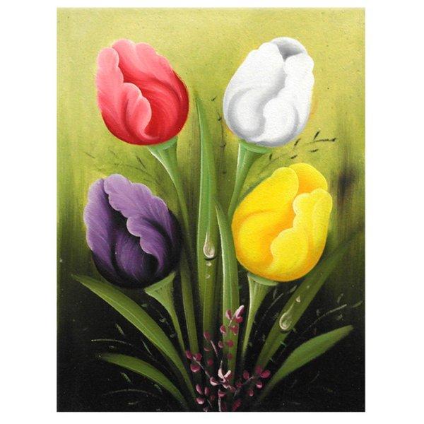 Jual Lukisan Bunga Tulip LZDOKT001 di lapak Toko Lukisan