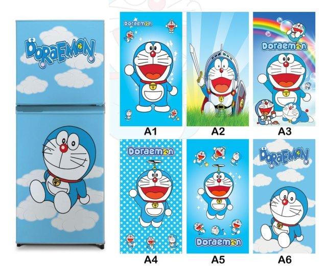 Jual Terbaik Stiker Kulkas Variasi Kartun Doraemon Lucu Termurah